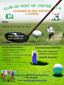Afiche Academia de Golf
